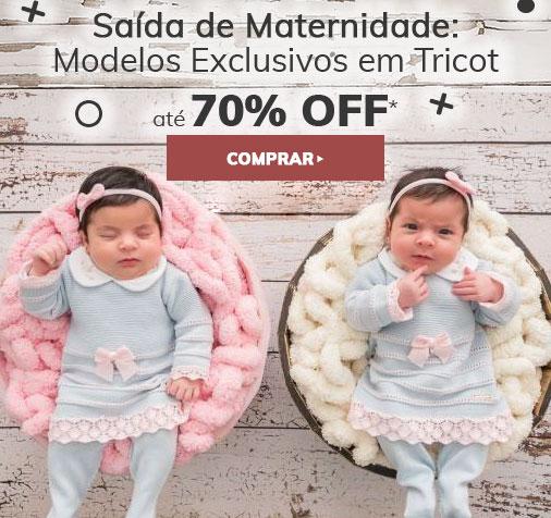 Saída de Maternidade até 70% OFF