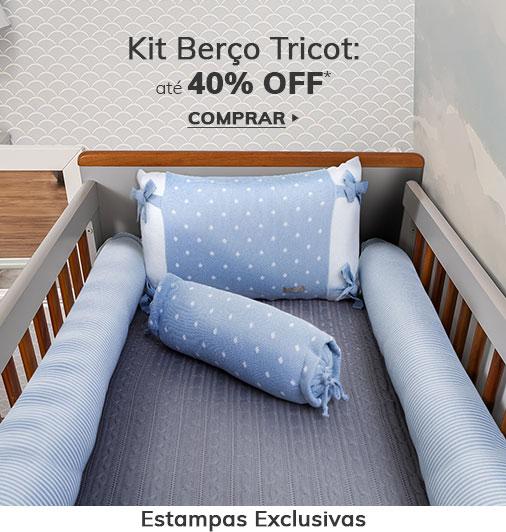 Promoção Kit Berço em Tricot