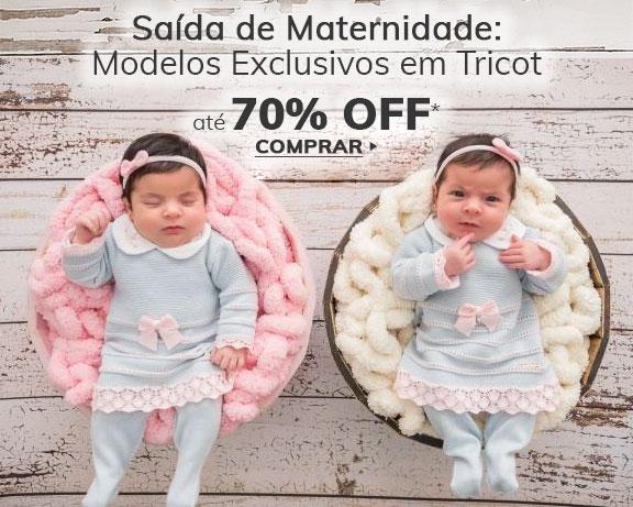 Saída de Maternidade com até 70% OFF